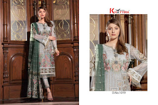 Khayyira Fuchsia Nx Georgette Pakistani Suits wholesaler