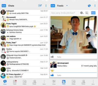 BBM Mod B-iOS V3.3.1.24 Apk Full DP Terbaru