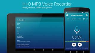 aplikasi perekam suara Hi-Q MP3 voice recorder