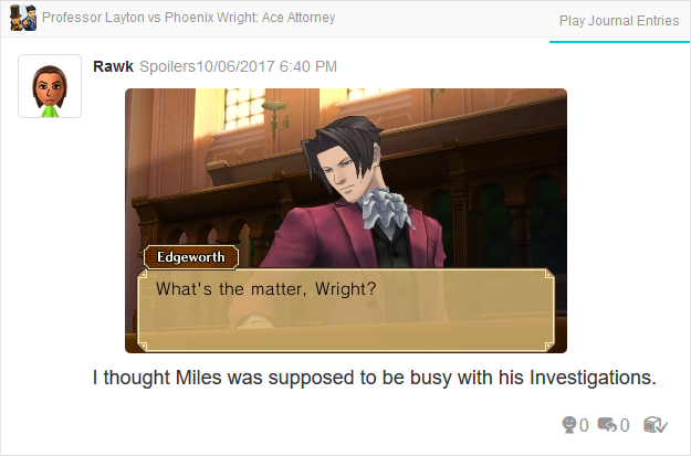 Professor Layton vs. Phoenix Wright Ace Attorney Miles Edgeworth