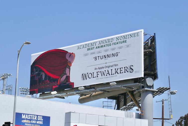Wolfwalkers Academy Award FYC billboard