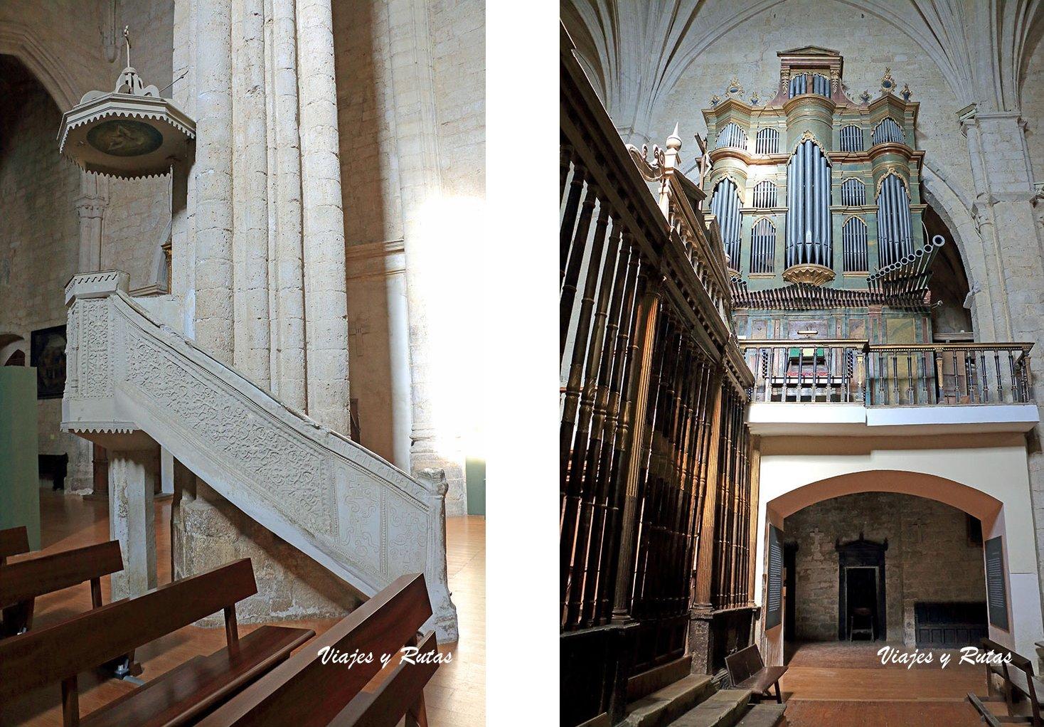 Órgano barroco y Púlpito de la iglesia de santa Eulalia de Paredes de Nava