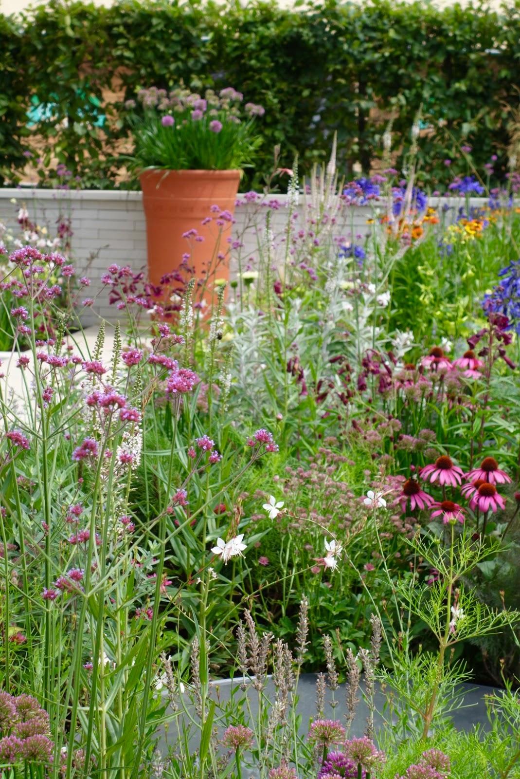 Combinación de herbáceas de flor en color rosa