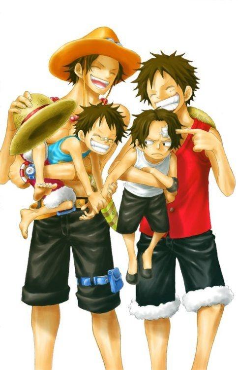 One Piece - Luffy family   Animez Wallpaper