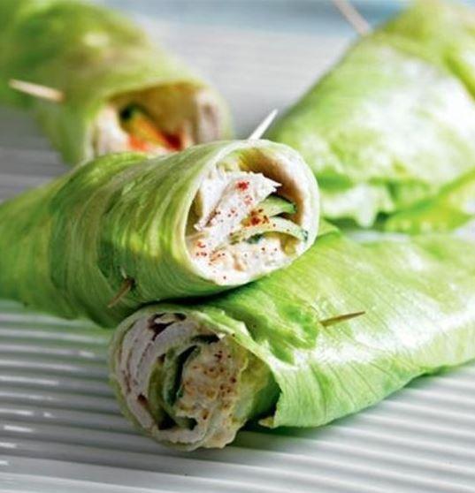 Healthy Turkey & Cucumber Lettuce Wrap