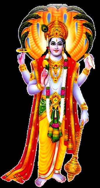 Lord Shri Maha Vishnu Full scape png images