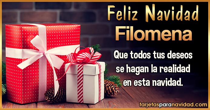 Feliz Navidad Filomena