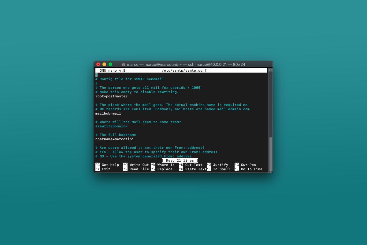 Come configurare SSMTP per inviare email