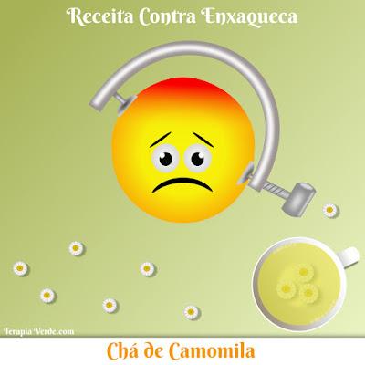 Receita Contra Enxaqueca: Chá de Camomila