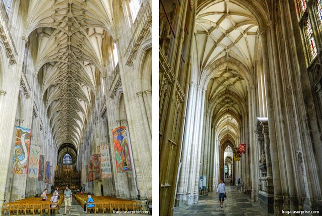 Interior da Catedral de Winchester, Inglaterra
