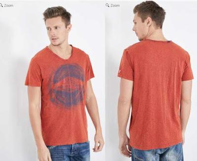 camiseta color naranja de Pepe Jeans