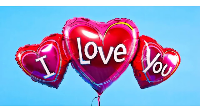 i love you balloons pic for love bf, gf  Whatsapp Profile Picture, DP, Images Download