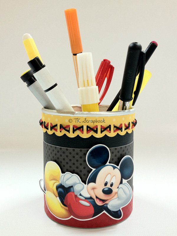porta canetas scrapbook mickey disney