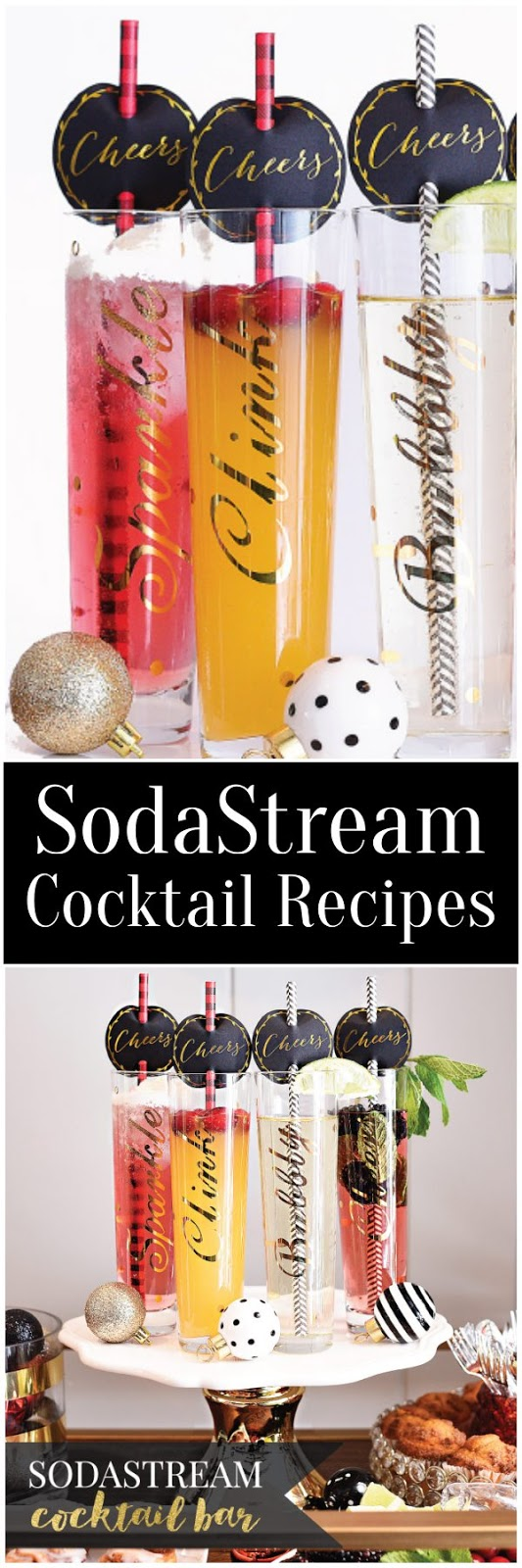 SodaStream Cocktail Recipes: perfect for low carb, Weight Watchers or anyone who loves skinny cocktails!