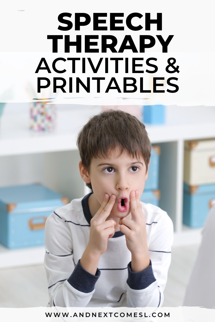 Speech therapy activities for autism plus tons of free speech therapy printables