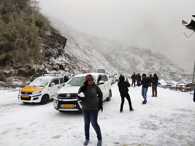 Nathu la Pass, Snow-fall at Nath-La, नाथुुुुु-ला बॉर्डर, सिक्क्मि