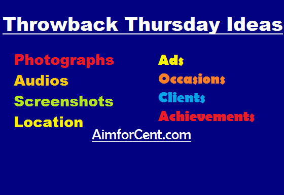 What is Throwback Thursday  Ideas and Use of #tbt