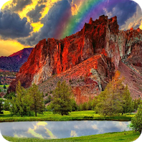 Red Mountain Live Wallpaper Apk free for Android