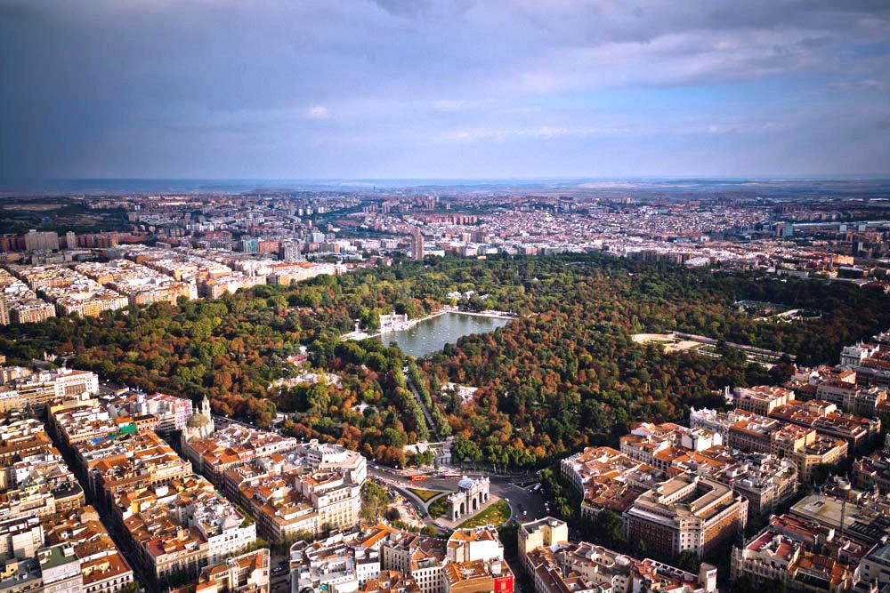 De paseo por madrid madrid desde el aire for Codigo postal del barrio de salamanca en madrid