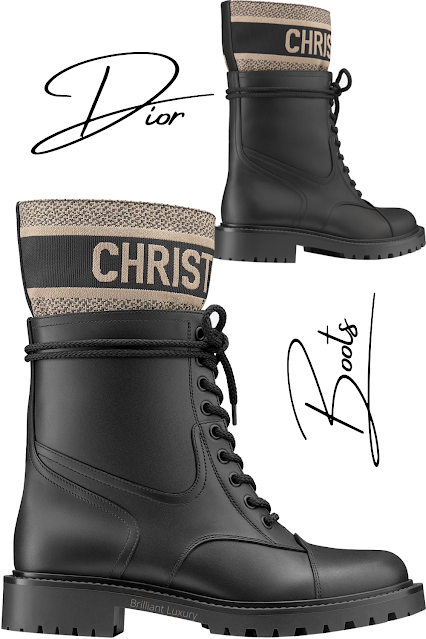 Black calfskin Dior D-Major ankle boots #brilliantluxury