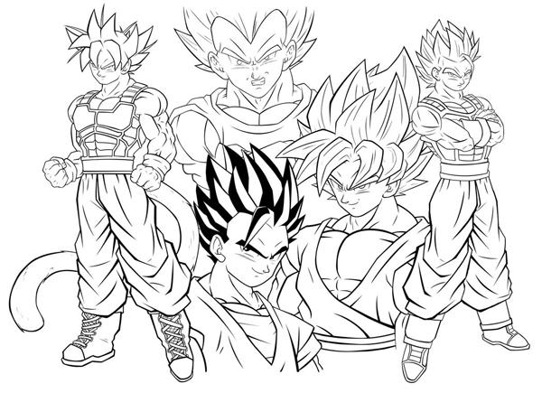 Imprimir Desenhos Do Dragon Ball Z Super.🎨Imprimir Desenho