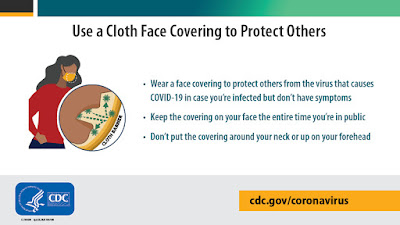face coverings advice  cdc