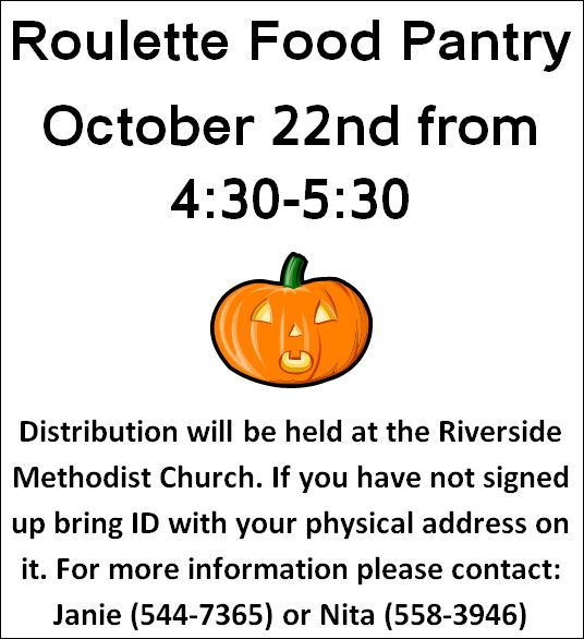 10-22 Roulette Food Pantry, Riverside UMC