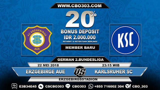 Prediksi Bola Erzgebirge Aue VS Karlsruher SC 22 Mei 2018