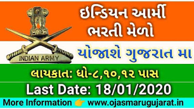 Indian Army Rally Bharti Melo In Gujarat Recruitment 2021
