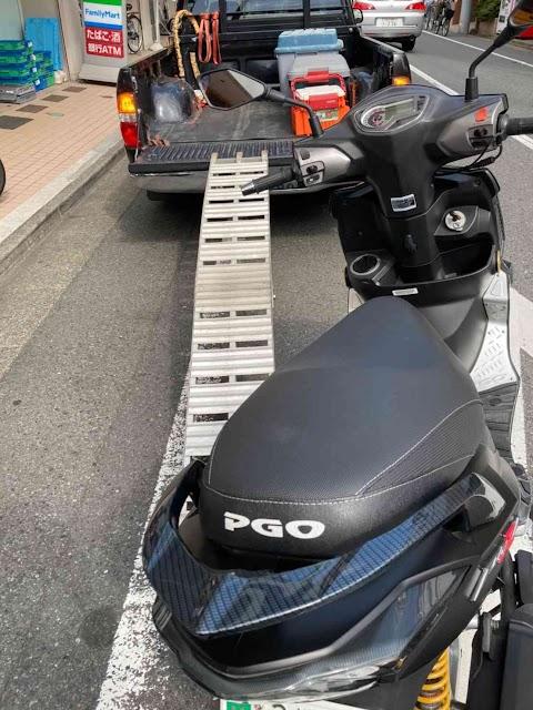 【バイク出張買取】横浜市鶴見区、PGOティグラ168R