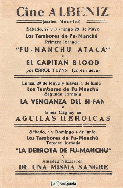 Programa de Cine - Los Tambores de Fu-Manchú (en 3 Jornadas) - Henry Brandon - William Royle