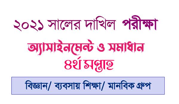 Dakhil 2021 Assignment 4th week