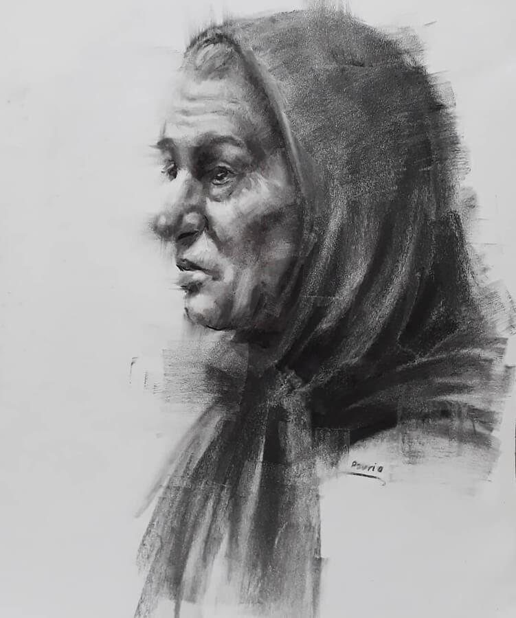 02-Portrait Drawings Pourianahaei-www-designstack-co