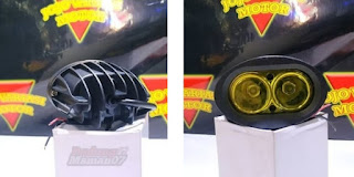 Model Lampu LED Owl 2 Mata Kuning