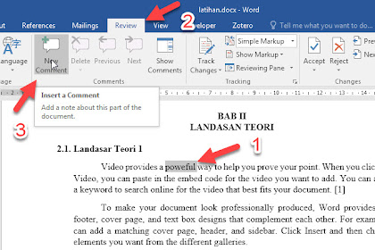 Menggunakan Komentar di Microsoft Word Untuk Membantu Proses Bimbingan Online