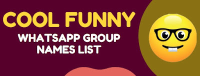 funny group names list