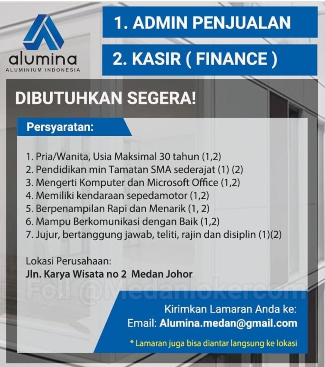 Lowongan Kerja Sma Smk Terbaru Di Pt Aluminium Indonesia Alumina Medan Agustus 2020 Lowongan Kerja Medan Terbaru Tahun 2021