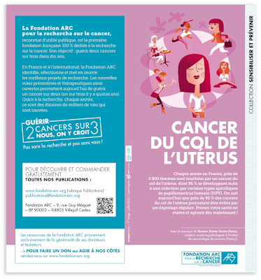 Clod illustration affiche fondation Arc prévention cancer du col de l'utérus avec l'agence Citizen Press