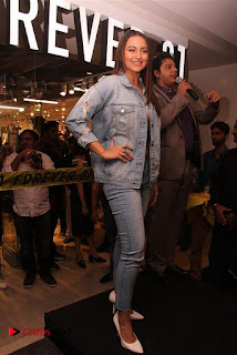 Actress Sonakshi Sinha Pos in Denim Jeans at Forever 21 Shop Launch at Express Avenue Mall  0008.jpg