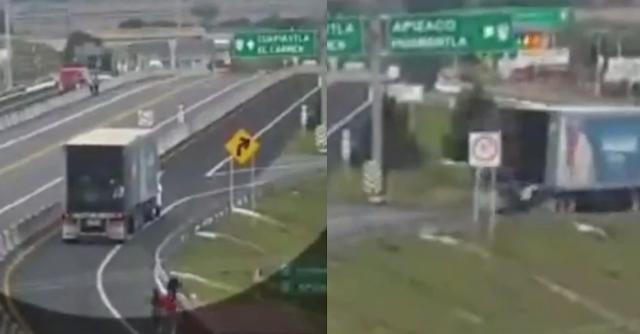Video: 2 Mujeres Normalistas mueren al aventarse e intentar saquear camión de la PESPI que avanzo al ver que estaba bajándole la mercancía en la autopista