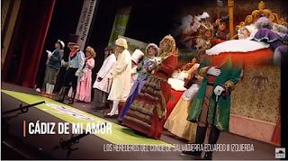 """Pasodoble con LETRA """"Cádiz de mi amor"""". Chirigota """"Los herederos del Conde de Salvatierra Eduardo III Izquierda"""""""