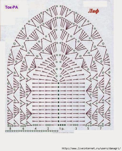 Tops en crochet (Patrones)