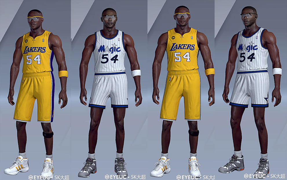 Horace Grant Cyberface, Hair and Body Model Dual Versions By sk super [FOR 2K21]