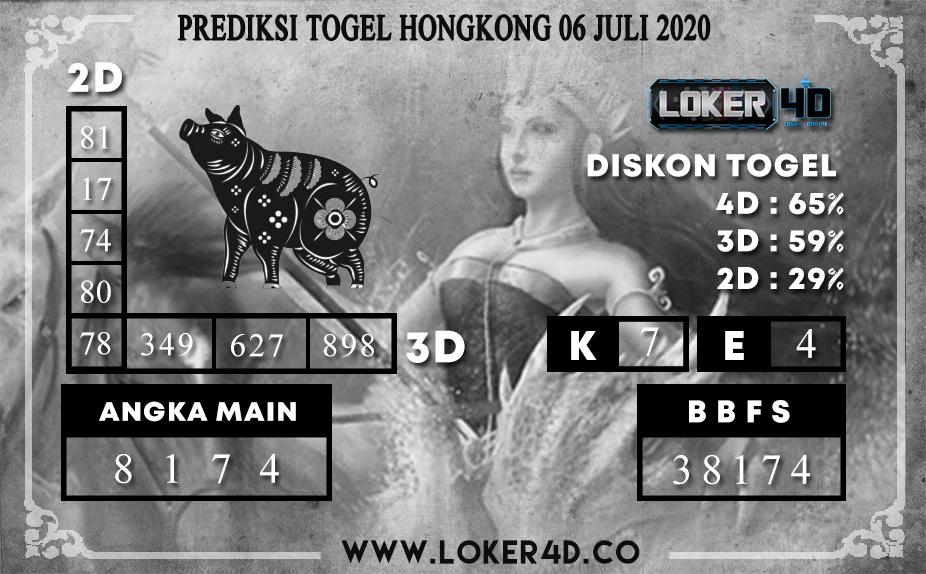 PREDIKSI TOGEL LOKER4D HONGKONG 7 06 JULI 2020