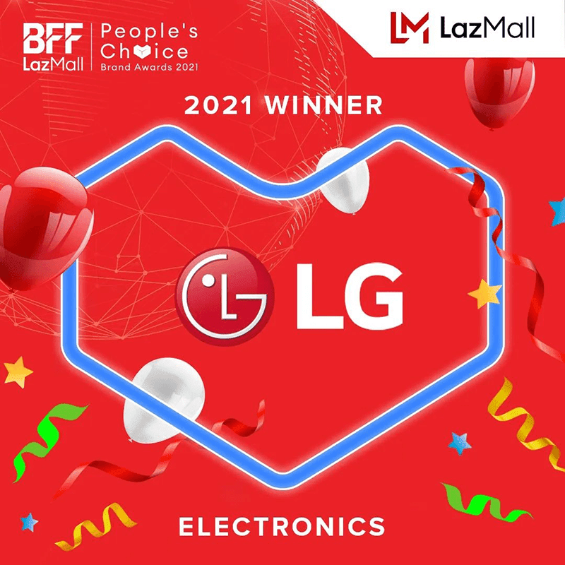 LG beats Samsung, Xiaomi to win the #LazMall People's Choice Brand for Electronics award