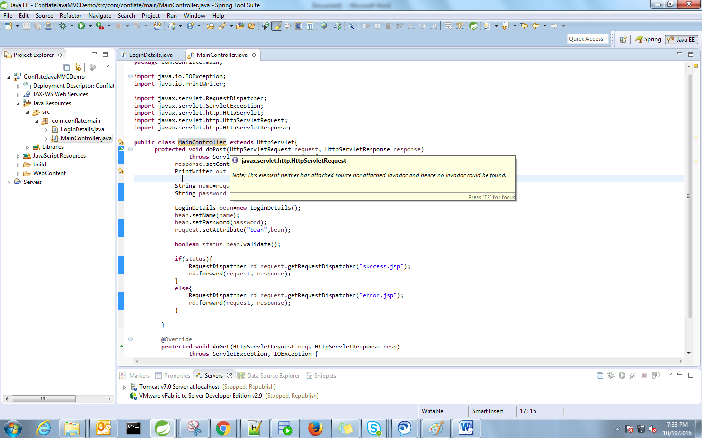 Java spring mvc application step by step tutorial one place main controller class baditri Gallery