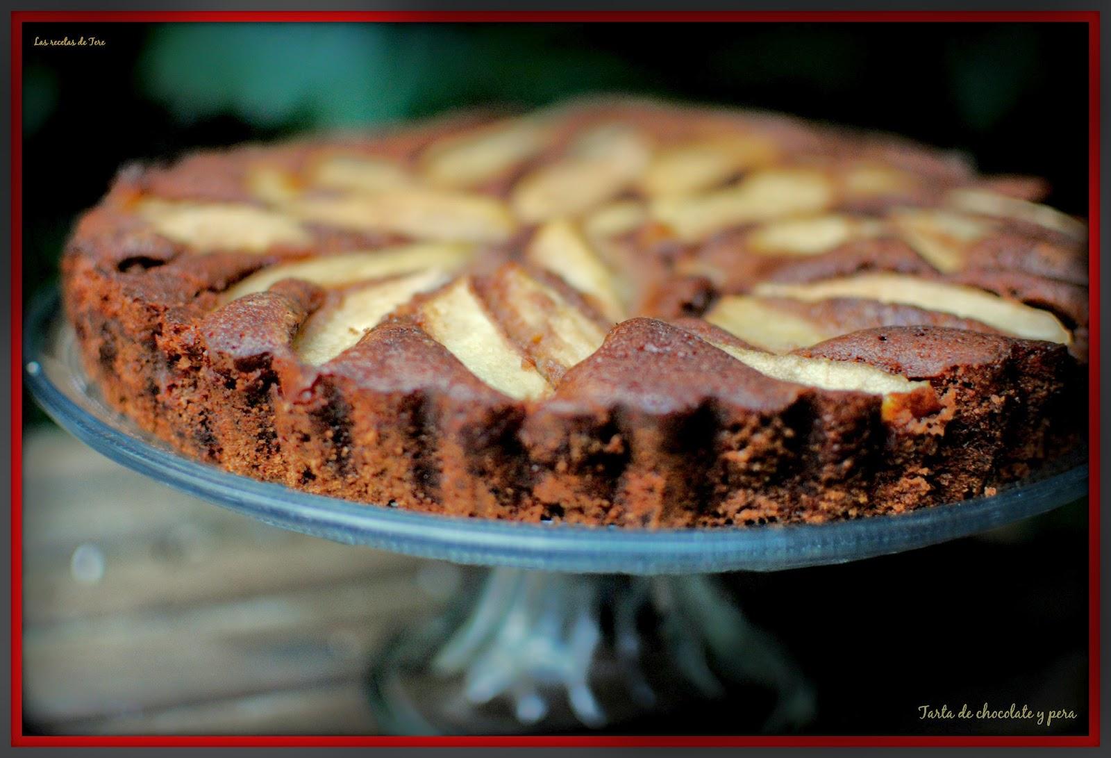 tarta de chocolate y pera tererecetas 04