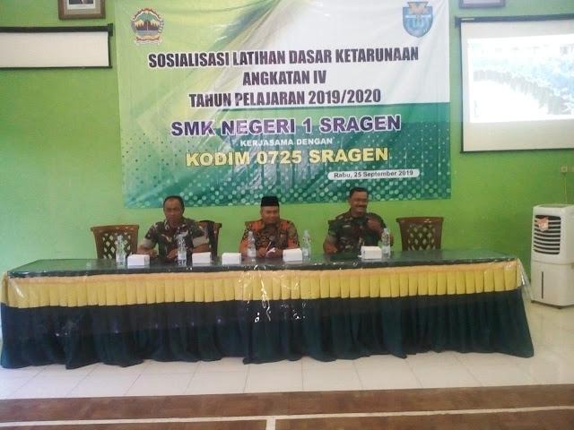 Sosialisasi Latihan Dasar Ketarunaan Angkatan IV SMK N I Sragen