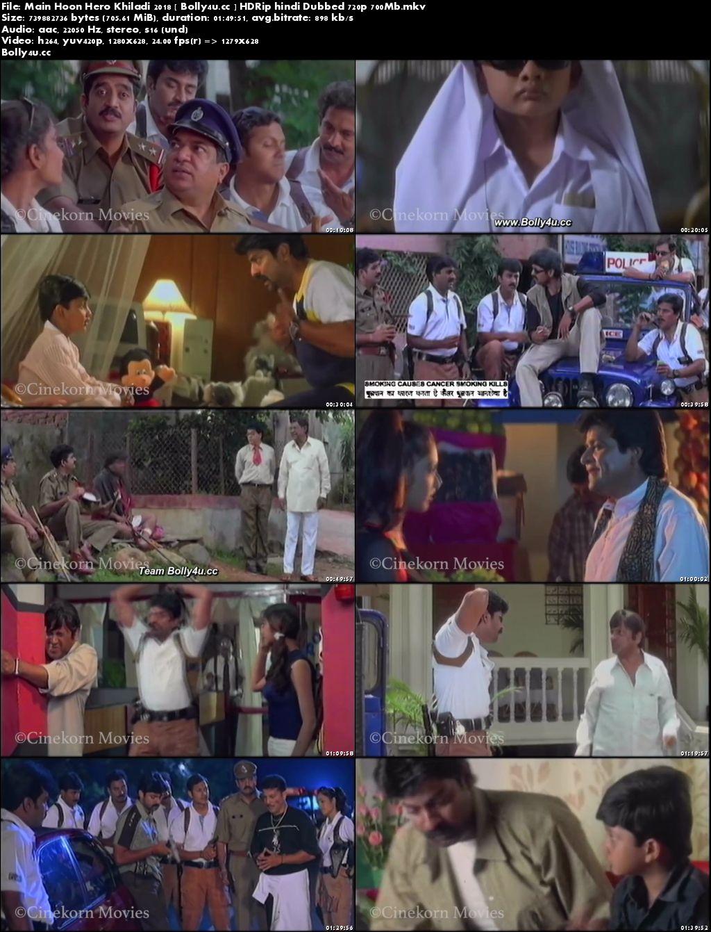 Main Hoon Hero Khiladi 2018 HDRip 350MB Hindi Dubbed 480p Download