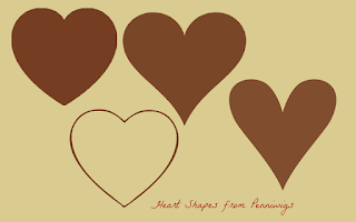 heart shaped templates diy